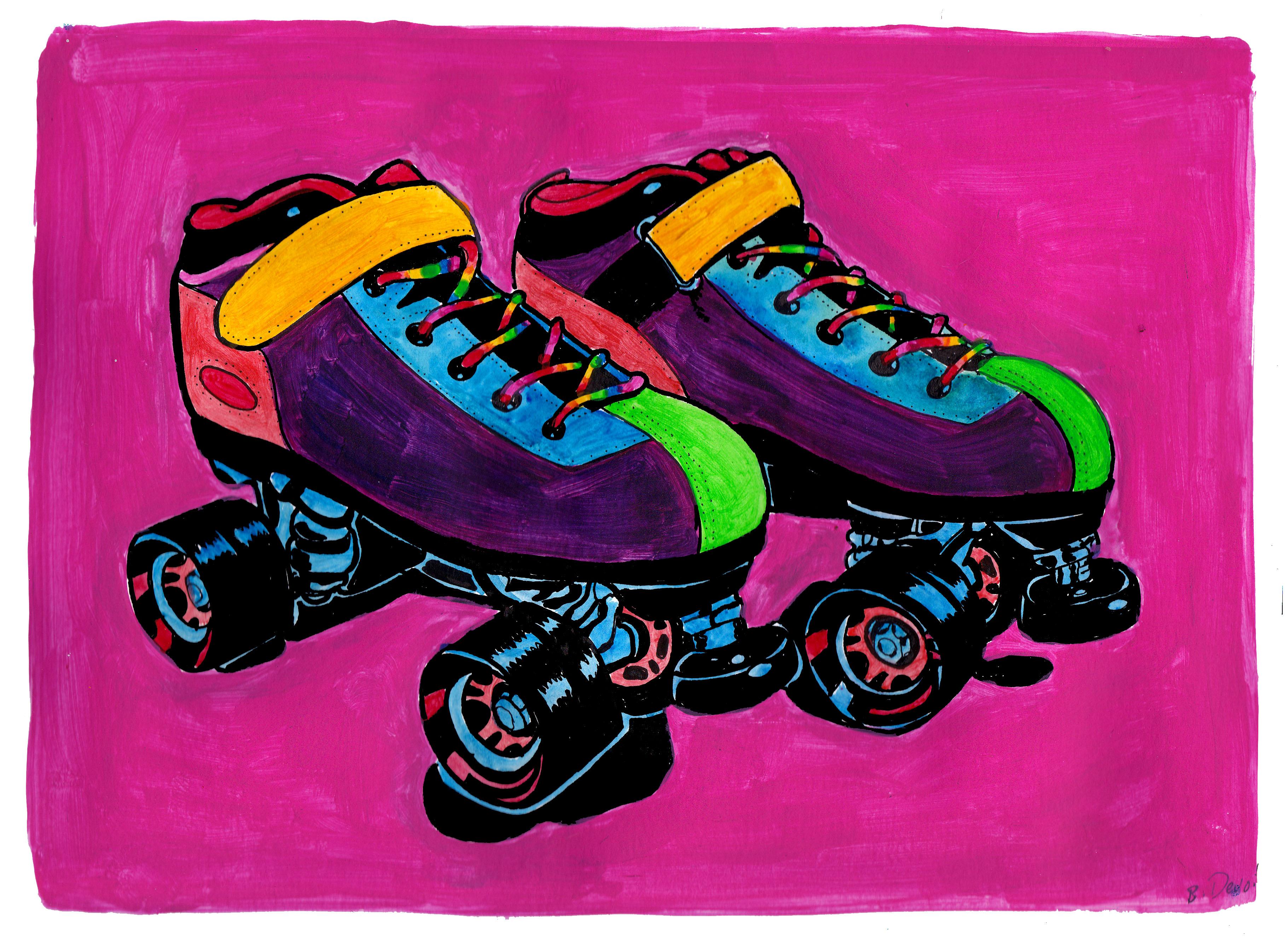 Roller skates rainbow - Rainbow Skates
